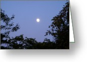 Full Moons Greeting Cards - Moon Greeting Card by Aimee L Maher