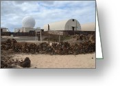 Ascension Island Greeting Cards - Moon Base One Greeting Card by Erik Albright