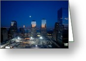 Highsmith Greeting Cards - Moon Over Ground Zero Greeting Card by Carol M Highsmith