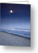 Digital Prints Greeting Cards - Moon Rising Over Hilton Head Greeting Card by Phill  Doherty