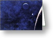 Outerspace Greeting Cards - Moon Greeting Card by Science Source
