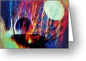 Skip Hunt Digital Art Greeting Cards - Moon Shadow Greeting Card by Skip Hunt