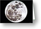 Pull Greeting Cards - Moon Greeting Card by Stephen Younts