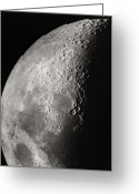 Moon Surface Greeting Cards - Moon Surface Detail Greeting Card by John Sanford