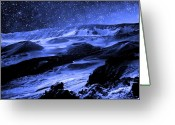 Sky Studio Greeting Cards - Moon Walk Greeting Card by Kevin Smith