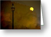 Spooky Moon Greeting Cards - Moon Walker Greeting Card by Susanne Van Hulst