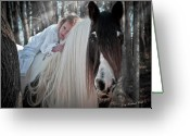 Storybook Greeting Cards - Moonbeams Greeting Card by Terry Kirkland Cook