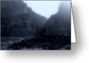 Fine Art Framed Prints Greeting Cards - Moonlight Big Bend Park and Rio Grand River Greeting Card by M K  Miller