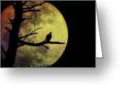 Two-faced Greeting Cards - Moonlight Mile Greeting Card by Bill Cannon