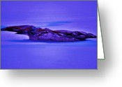 Skagway Greeting Cards - Moonlight On Tundra Ice Greeting Card by Helen Carson