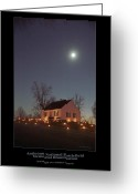 Antietam Greeting Cards - Moonlight over Dunker Church 96 Greeting Card by Judi Quelland