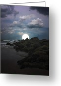 Book Cover Greeting Cards - Moonlight Tonight Greeting Card by Thomas York