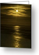 Topaz Greeting Cards - Moonlit Pacific Greeting Card by Dale Stillman