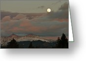 Bob Berwyn Greeting Cards - Moonrise Greeting Card by Bob Berwyn