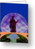 Moonrise Digital Art Greeting Cards - Moonrise Greeting Card by Geoff Simmonds