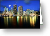 Moonrise Digital Art Greeting Cards - Moonrise  Greeting Card by Marvin Rivera