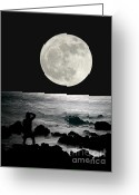 Moonrise Digital Art Greeting Cards - Moonrise Greeting Card by Paul Topp