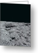Lunar Photo Greeting Cards - Moons Surface Greeting Card by Nasa