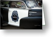 Law Enforcement Greeting Cards - Moonshine Patrol Greeting Card by DigiArt Diaries by Vicky Browning