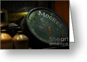 Jugs Greeting Cards - Moores Tavern After Closing Greeting Card by Mary Machare