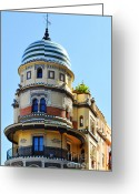 Weather Vane Greeting Cards - Moorish Tower Greeting Card by Mary Machare