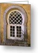 Pena Greeting Cards - Moorish Window Greeting Card by Carlos Caetano