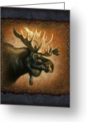 Montana Greeting Cards - Moose Lodge Greeting Card by JQ Licensing