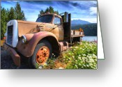 Truck Greeting Cards - Moose Pass Limo Greeting Card by David Wagner