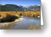Rocky Mountain Prints Greeting Cards - Morain Park Colorado Greeting Card by James Steele