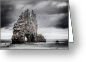 Atlantic Ocean Greeting Cards - Mordor Greeting Card by Evgeni Dinev