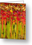 Survivor Mixed Media Greeting Cards - More Flowers in the Field Greeting Card by Angela L Walker