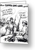 Second Greeting Cards - More Metal WW2 Cartoon Greeting Card by War Is Hell Store
