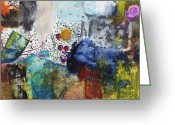 Colorful Mixed Media Greeting Cards - More to Come Greeting Card by Michel  Keck