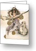 Morgan Le Fay Greeting Cards - Morgaine Greeting Card by Johanna Pieterman