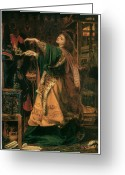 Morgan Le Fay Greeting Cards - Morgan-Le-Fay Greeting Card by Frederick Sandys