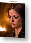 Guinevere Greeting Cards - Morgan Pendragon Eva Green Greeting Card by Jennifer Hickey