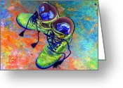 Award Digital Art Greeting Cards - Morgans Boots Greeting Card by Nina-Rosa Duddy