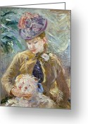 Corsage Greeting Cards - Morisot: Paule Gobillard Greeting Card by Granger