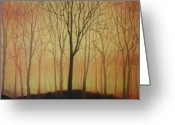 Lanscape Pastels Greeting Cards - Morning 1 Greeting Card by Meliha Bisic