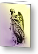 Heaven Digital Art Greeting Cards - Morning Angel Greeting Card by Bill Cannon