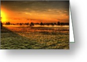 Golf Club Greeting Cards - Morning Arrives At Foxfire  Greeting Card by Thomas Young
