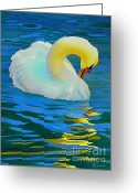 Warm Painting Greeting Cards - Morning Bath Greeting Card by Robert Hooper