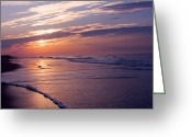 Bonnes Eyes Fine Art Photography Greeting Cards - Morning Beach Walk Greeting Card by Bonnes Eyes Fine Art Photography