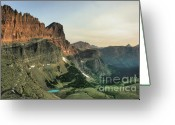 Glacier Greeting Cards - Morning Bliss Greeting Card by Dave Hampton Photography