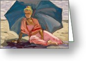 Clothed Figure Greeting Cards - Morning Chill Greeting Card by Mark Lunde