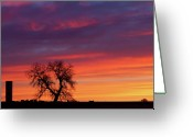 Country Prints Greeting Cards - Morning Country Sky Greeting Card by James Bo Insogna