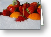 Tangerines Greeting Cards - Morning Feast Greeting Card by Kristine Nora