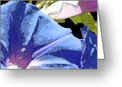 Abstract Greeting Cards - Morning Glory Greeting Card by Laura Wrede