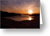 Kamloops Greeting Cards - Morning Glory Greeting Card by Peter Olsen