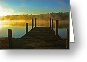 Beach Landscapes Greeting Cards - Morning Glow Greeting Card by Christopher  Ward